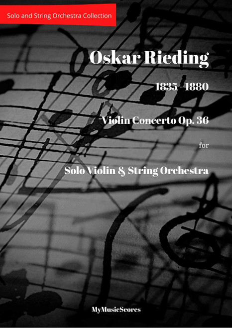 Rieding Violin Concerto Op 36 for String Orchestra