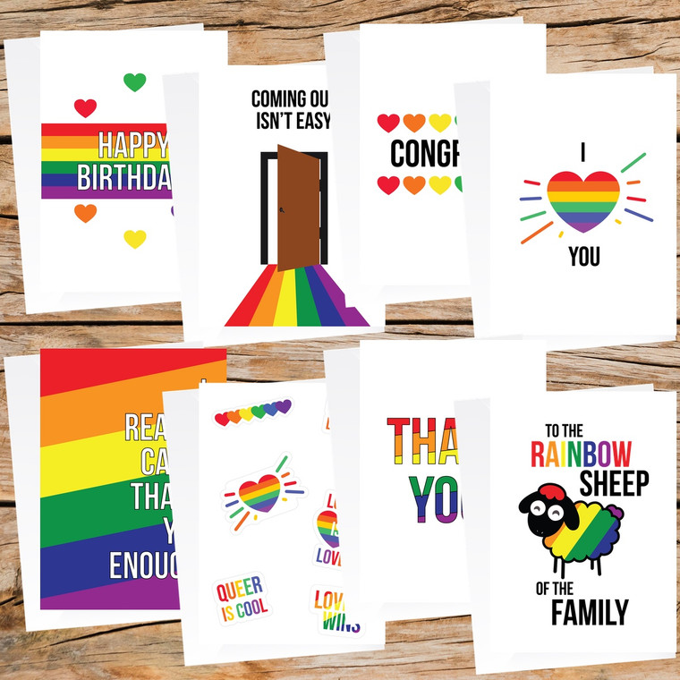 Pride Pack | LGBTQ+ Greeting Cards (Free Shipping to US)