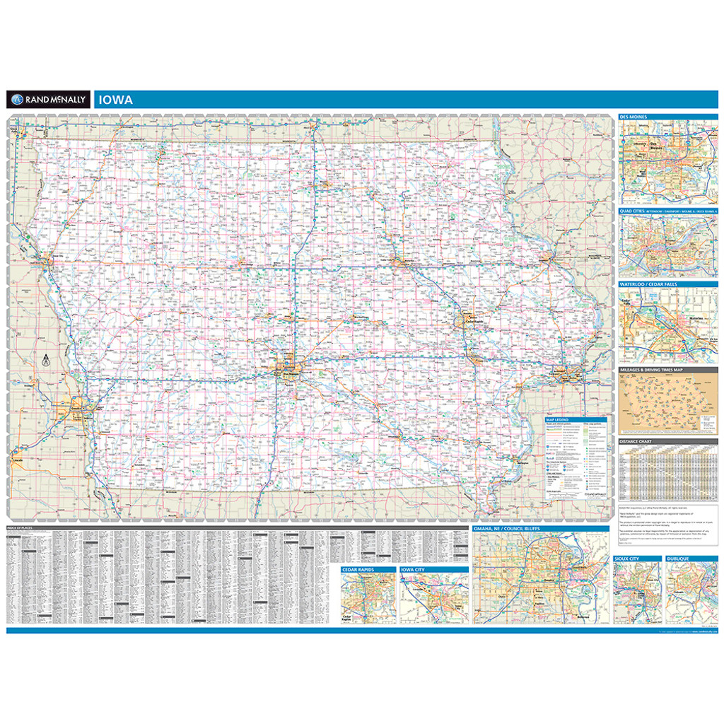 ProSeries Wall Map: Iowa State