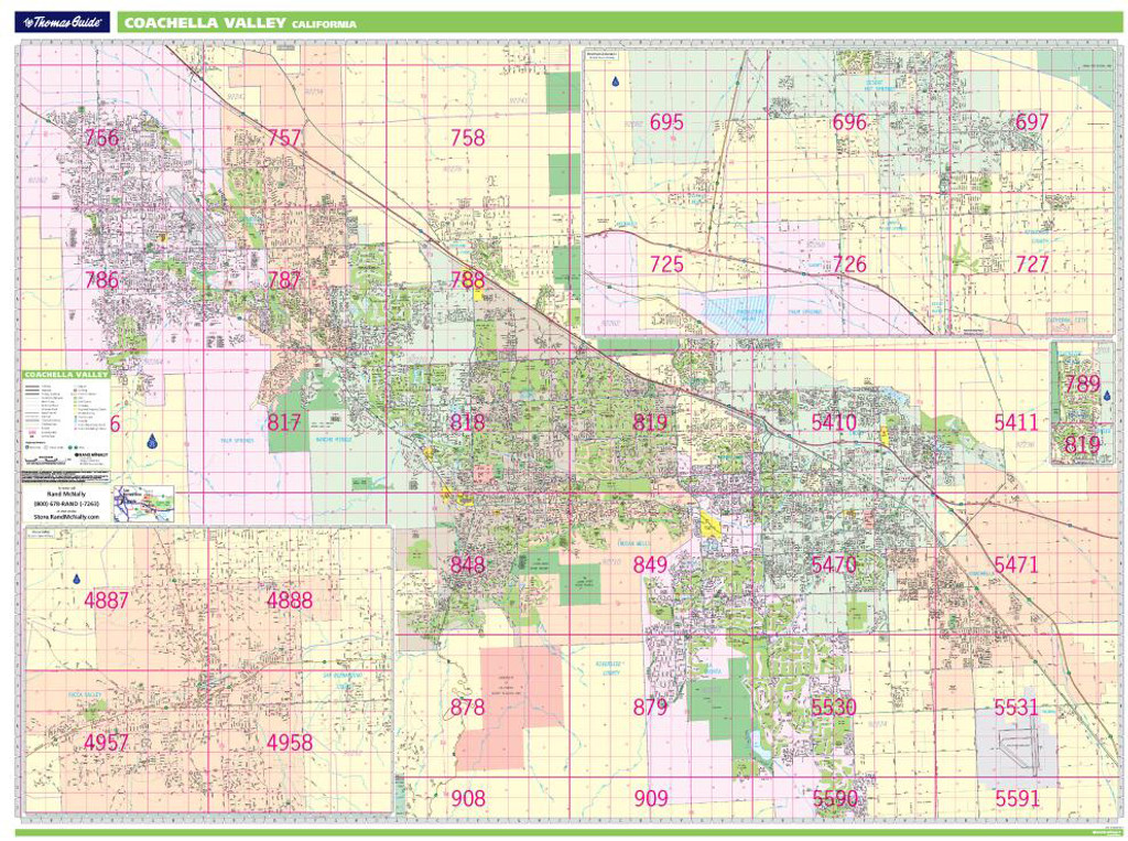 Thomas Bros. Coachella Valley Wall Map