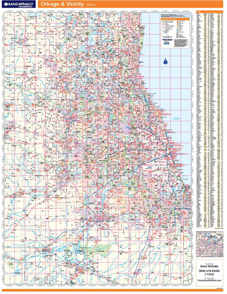 Rand McNally Chicago Regional Wall Map on