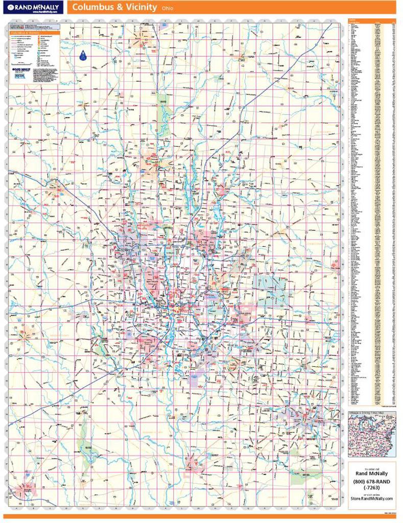Rand McNally Columbus Regional Wall Map