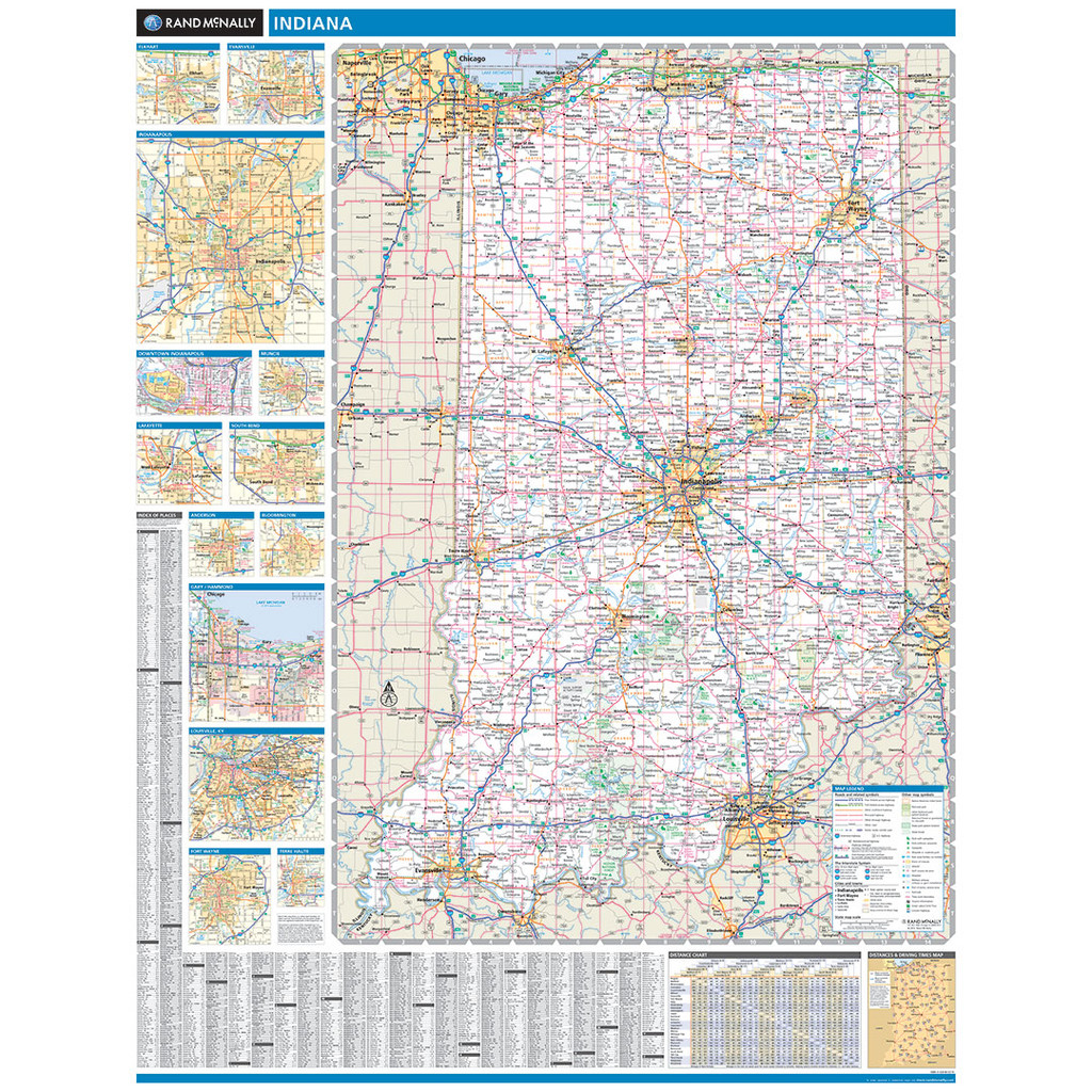 ProSeries Wall Map: Indiana State