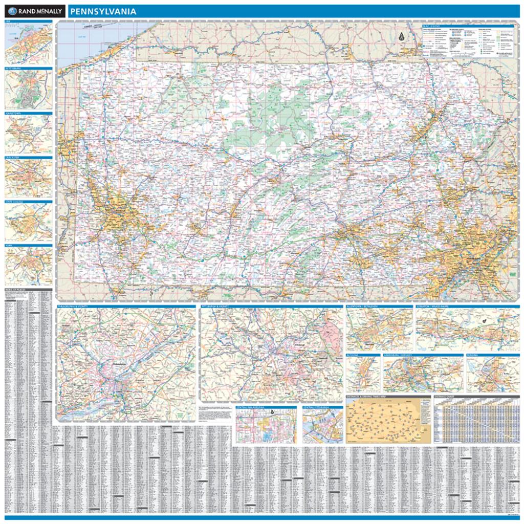 Rand Mcnally Pennsylvania State Wall Map