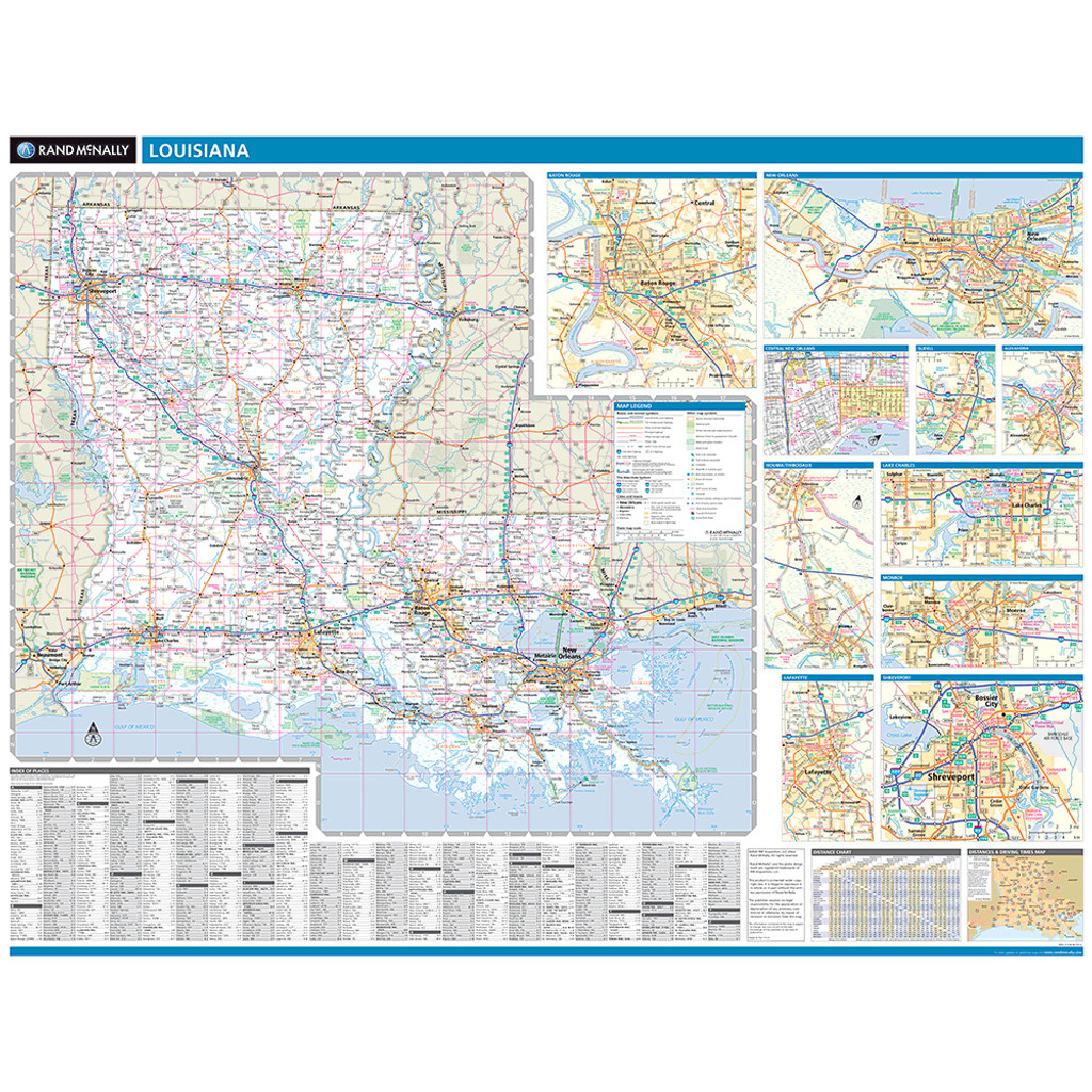 ProSeries Wall Map: Louisiana State
