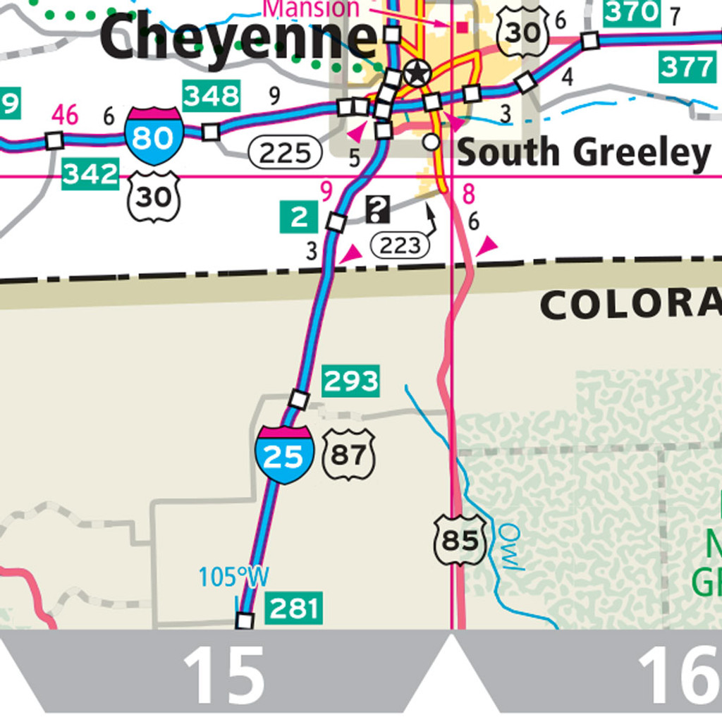 ProSeries Wall Map: Wyoming State