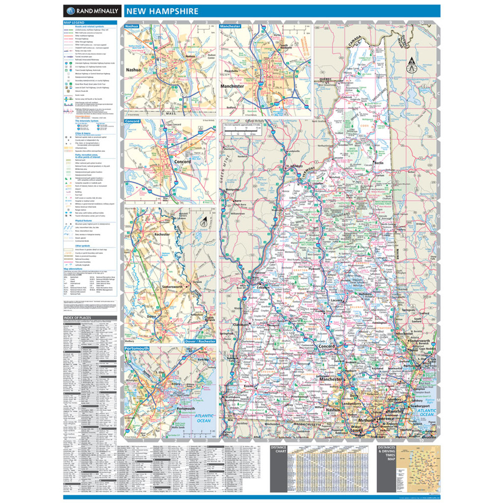 ProSeries Wall Map: New Hampshire State