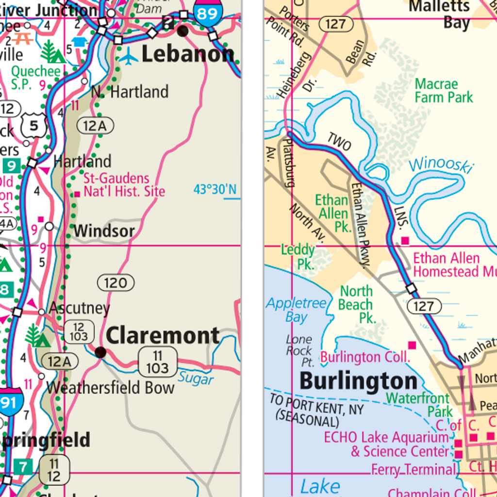 ProSeries Wall Map: Vermont State