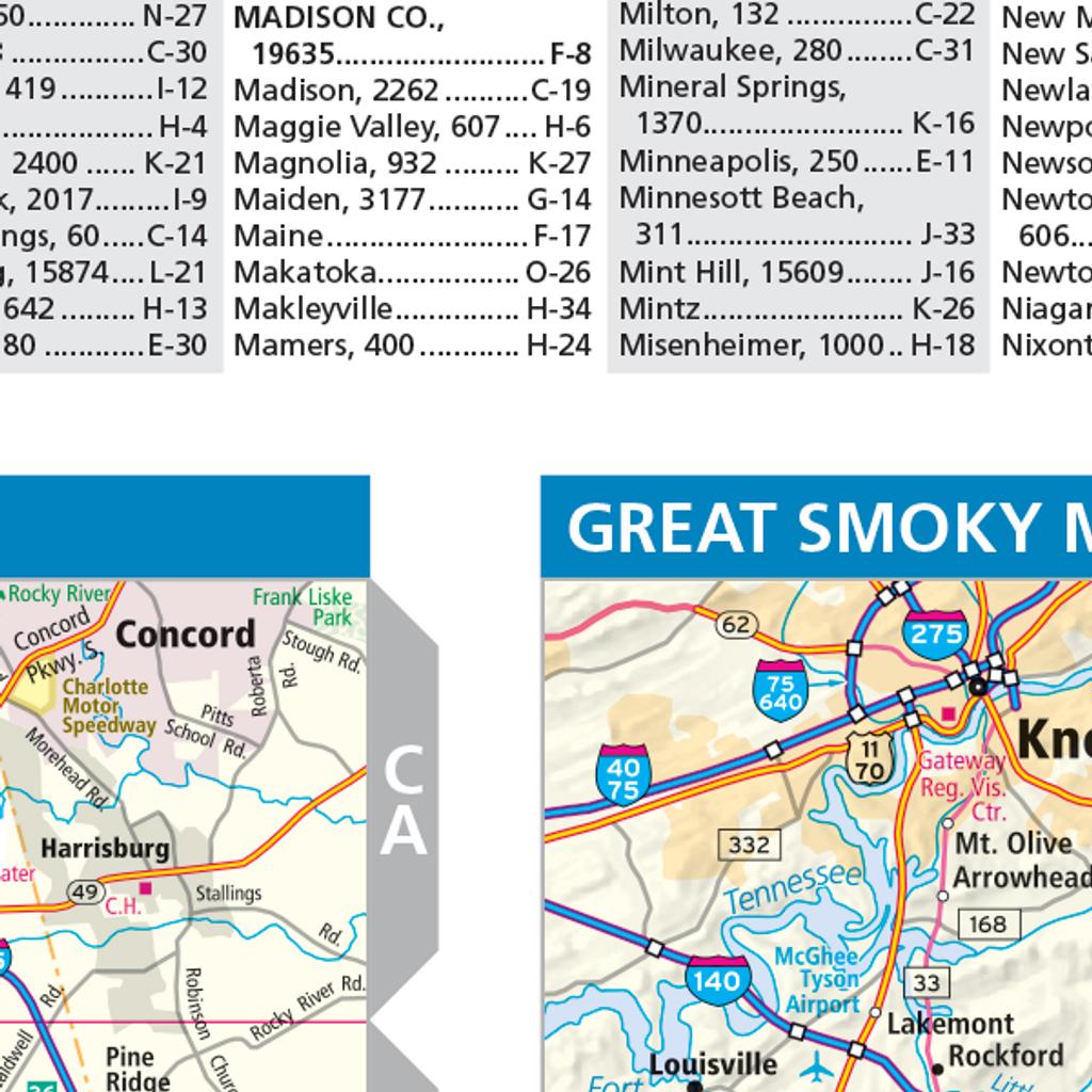 ProSeries Wall Map: North Carolina State
