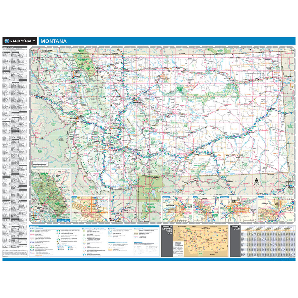 ProSeries Wall Map: Montana State