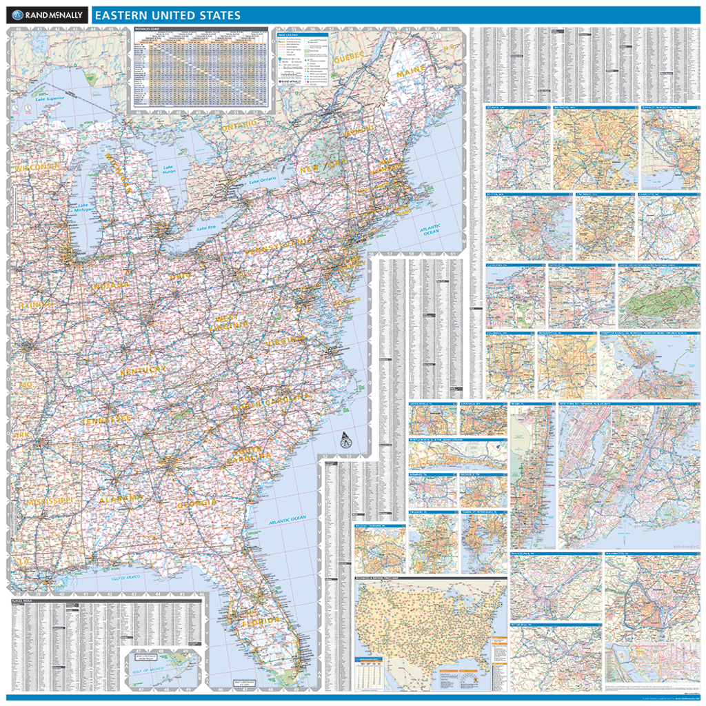 ProSeries Wall Map: Eastern United States