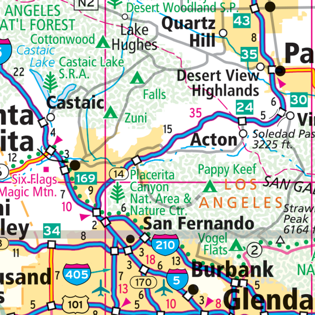 ProSeries Wall Map: Southern California
