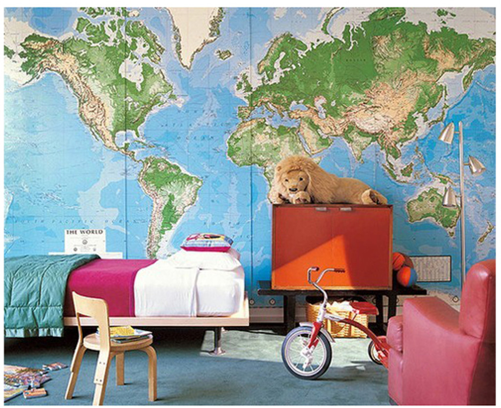 World Mural Wall Map: Laminated