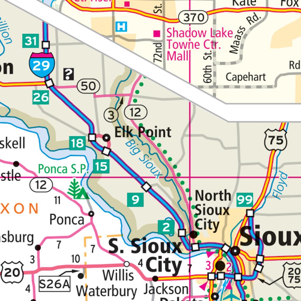 ProSeries Wall Map: Nebraska State