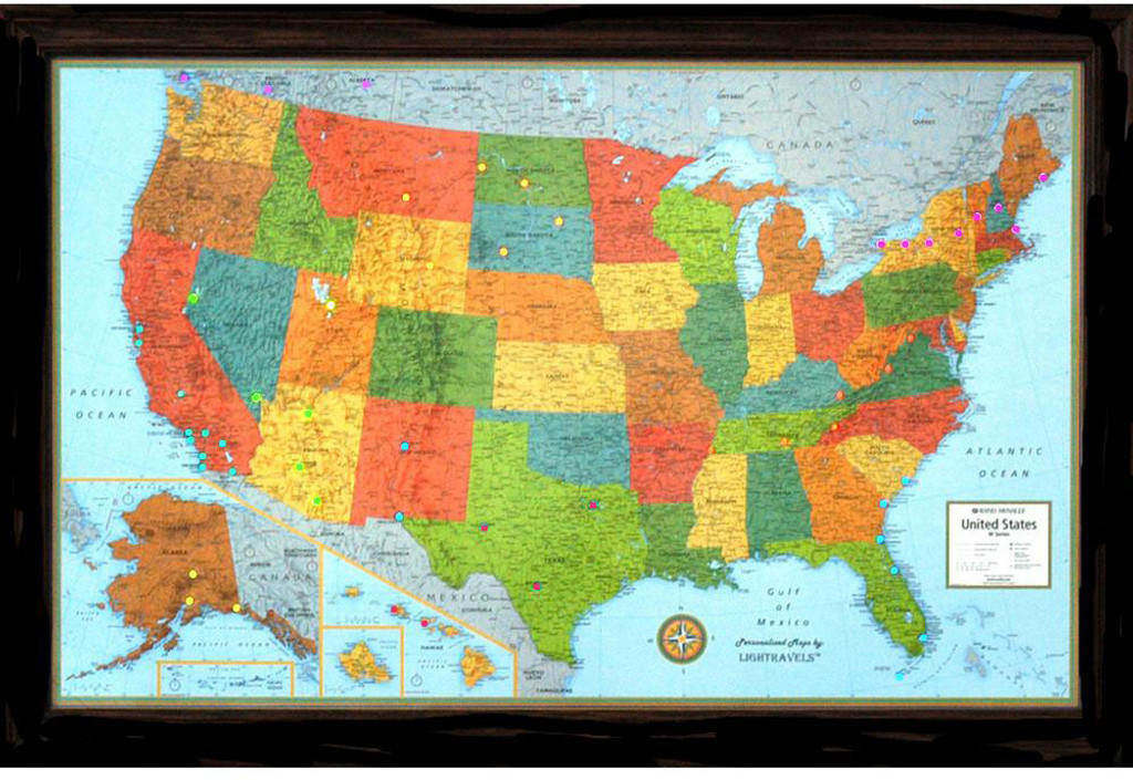 Lightravels Illuminated U S A Map