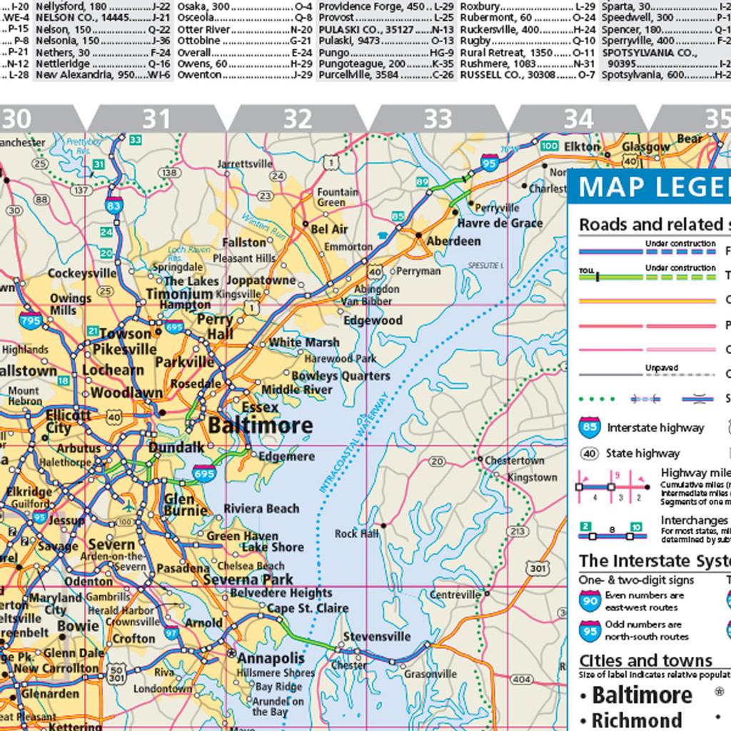 Rand McNally Virginia State Wall Map