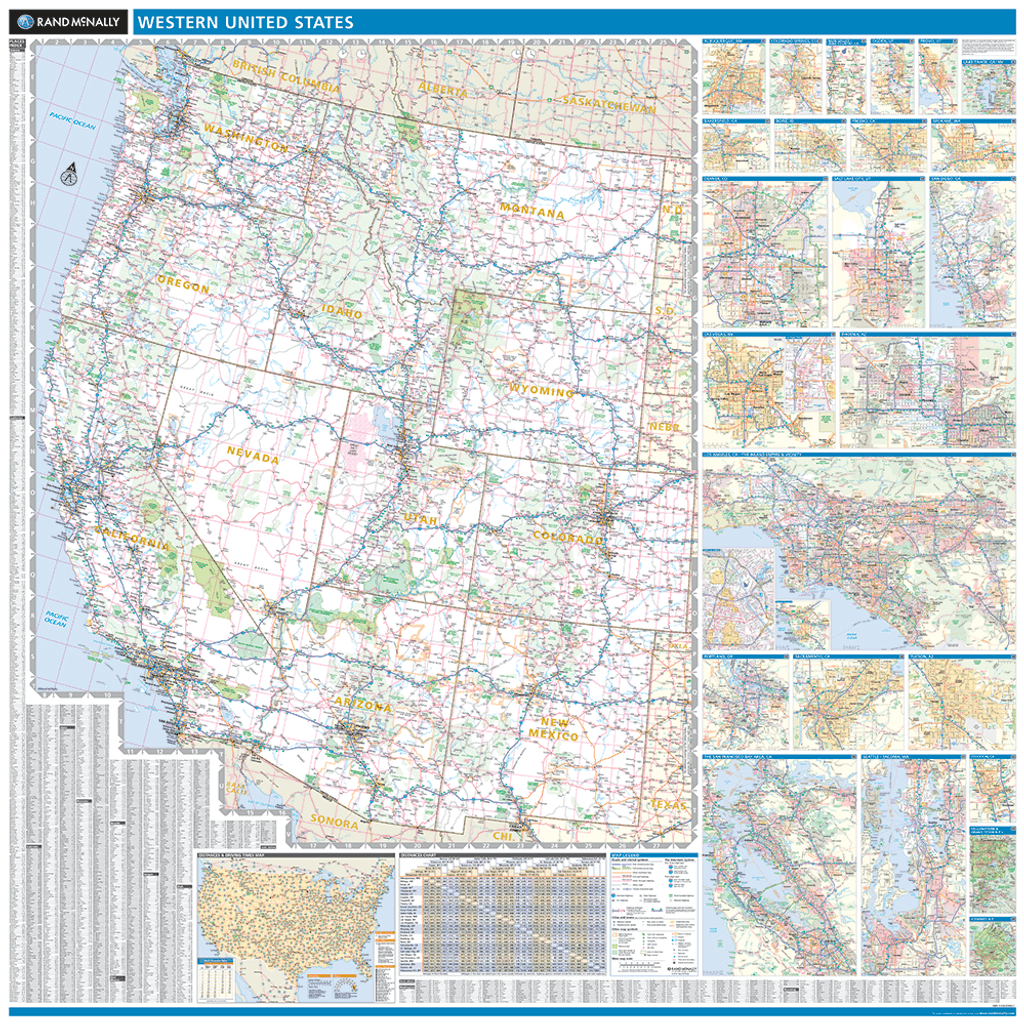 Map Of The Western United States Rand McNally ProSeries Regional Wall Map: Western United States