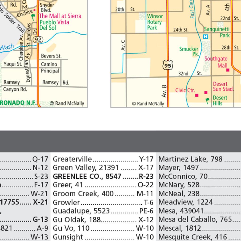 ProSeries Wall Map: Arizona State