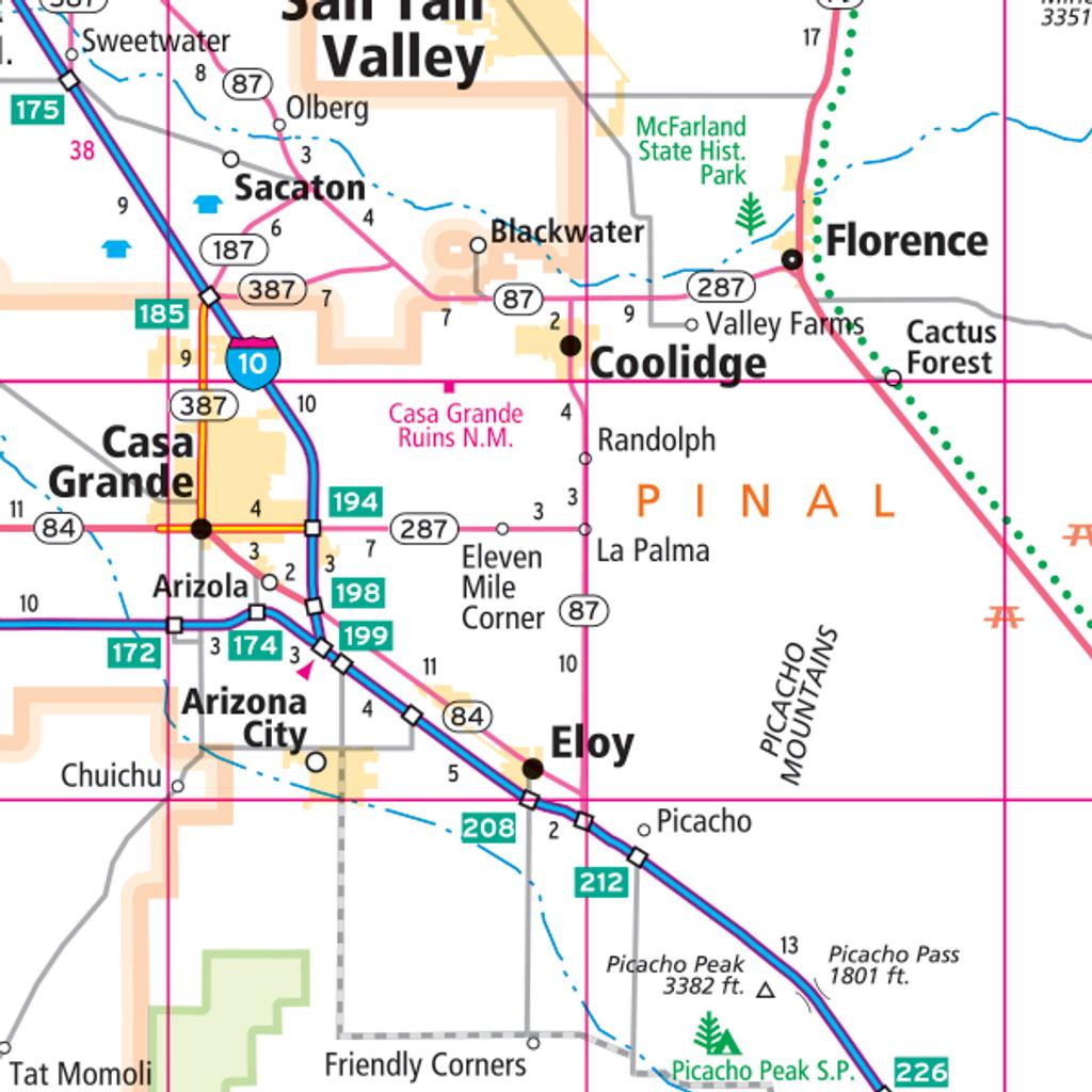 Rand Mcnally Arizona State Wall Map