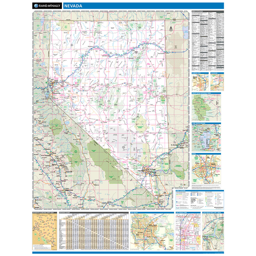 ProSeries Wall Map: Nevada State