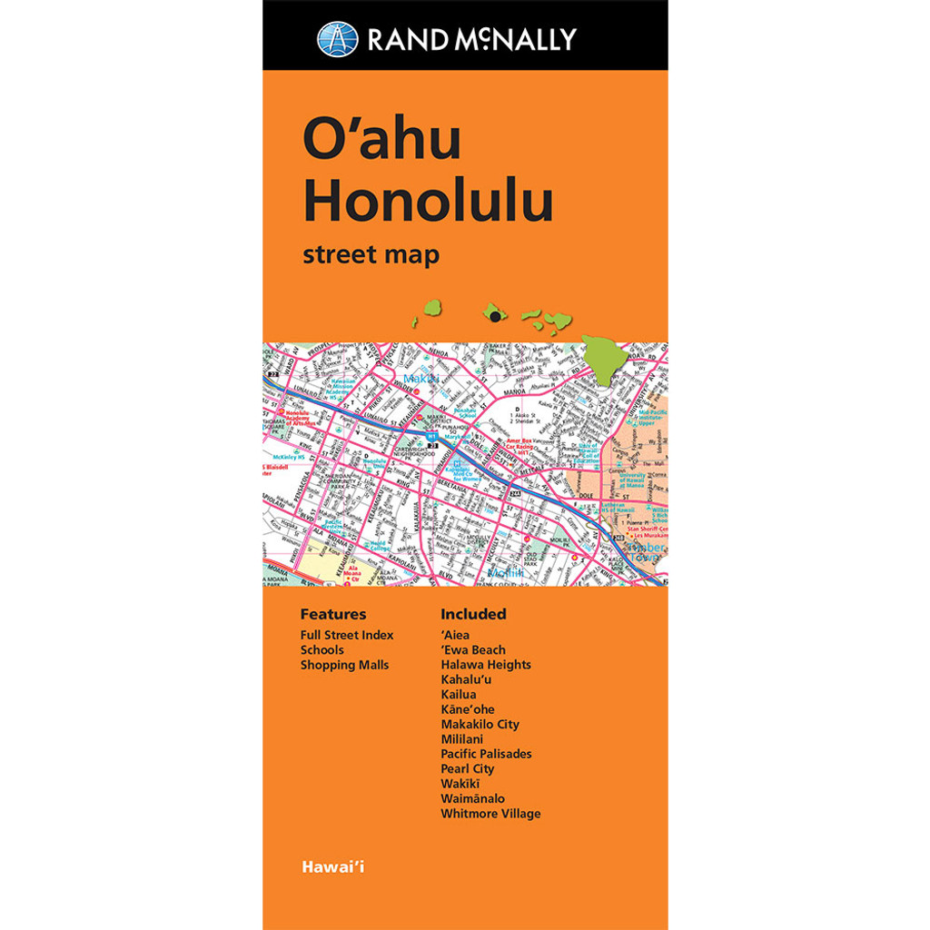 Folded Map: O'ahu, Honolulu