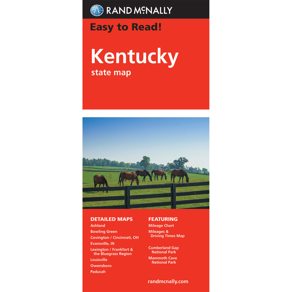 Easy To Read: Kentucky State Map