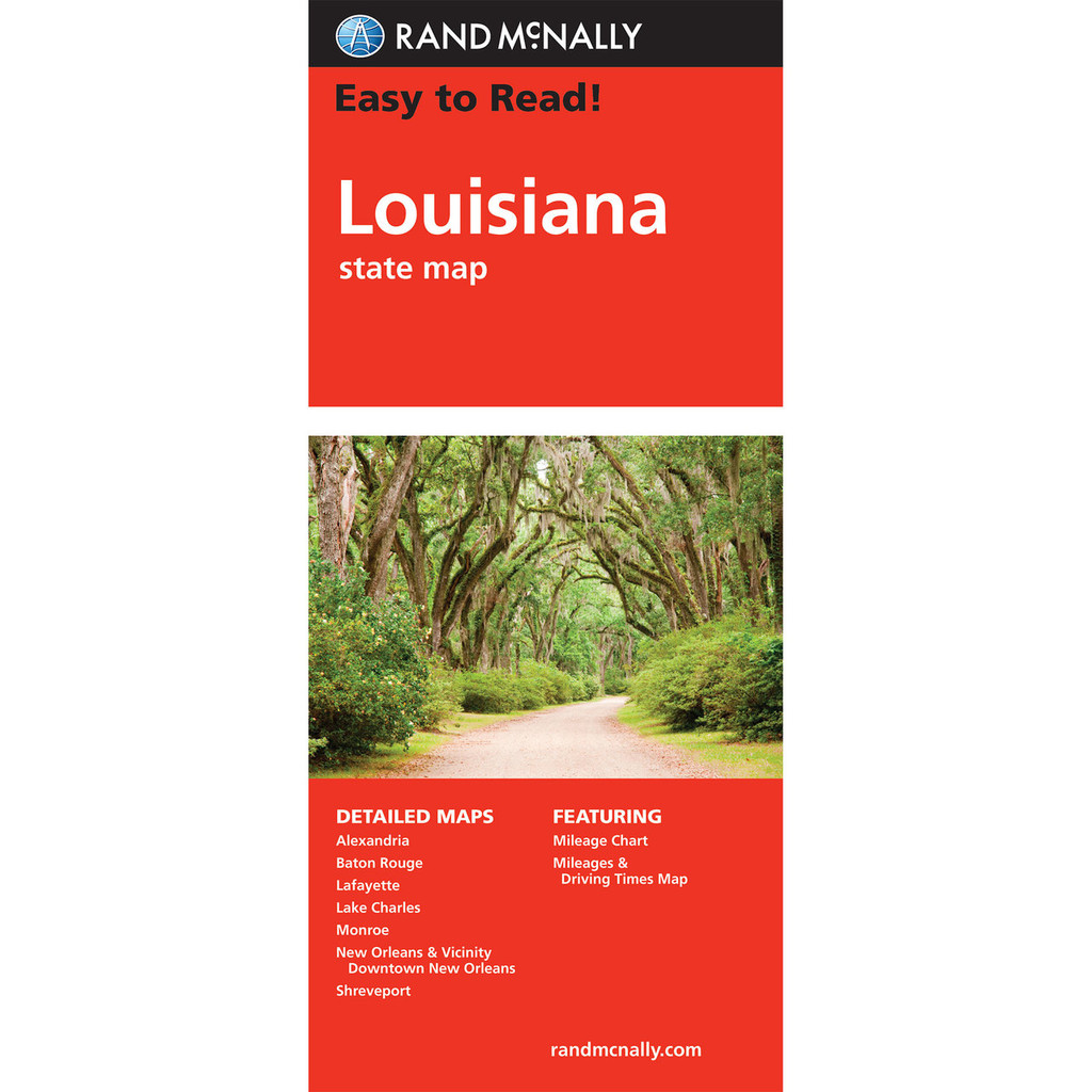 Easy To Read: Louisiana State Map