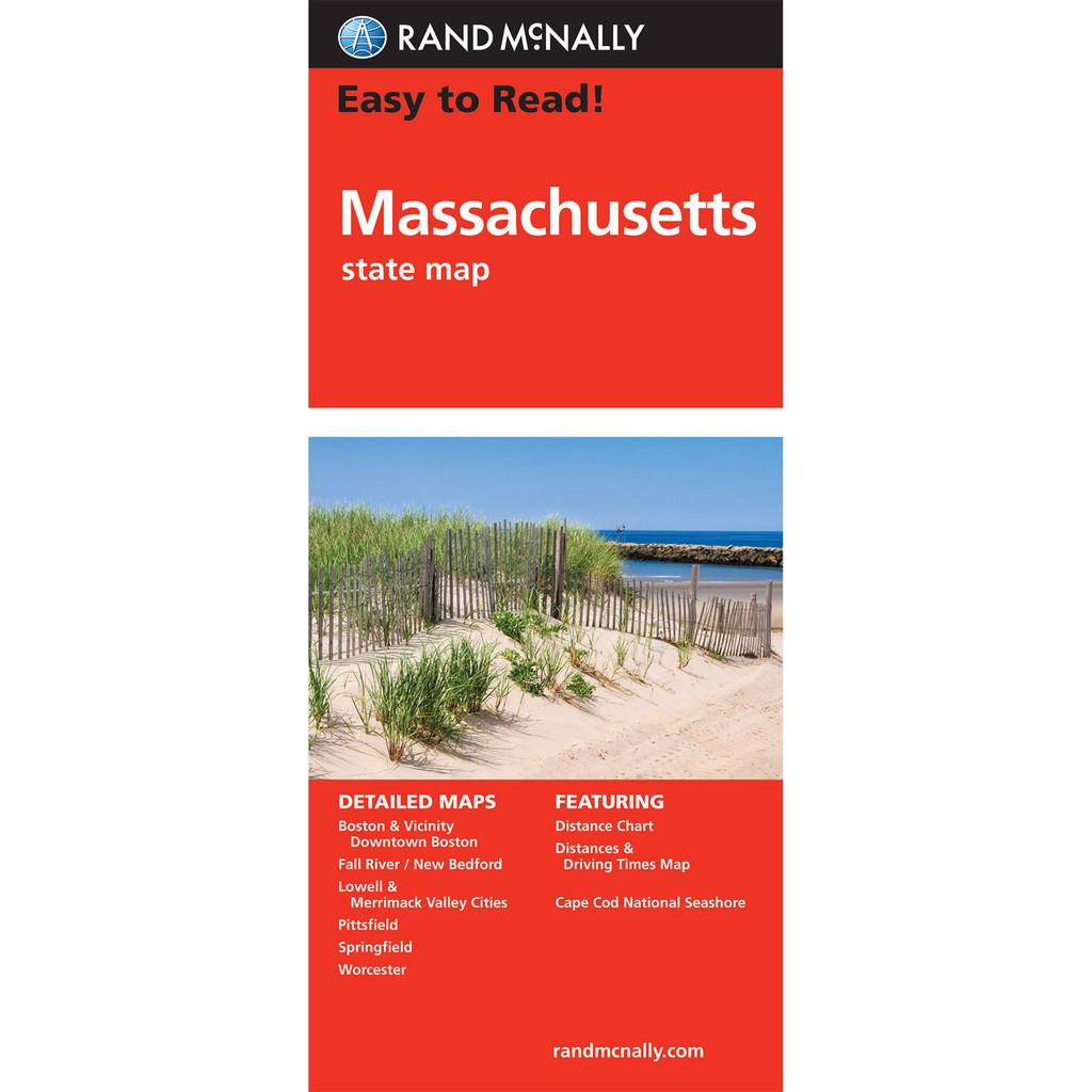 Rand McNally Folded Map: Machusetts on