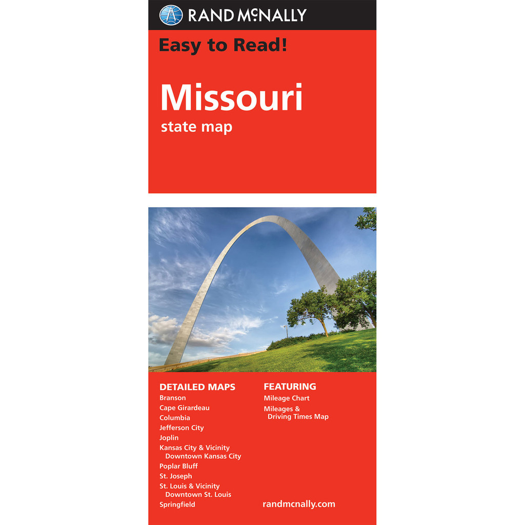 Rand McNally Easy To Read State Folded Map: Missouri