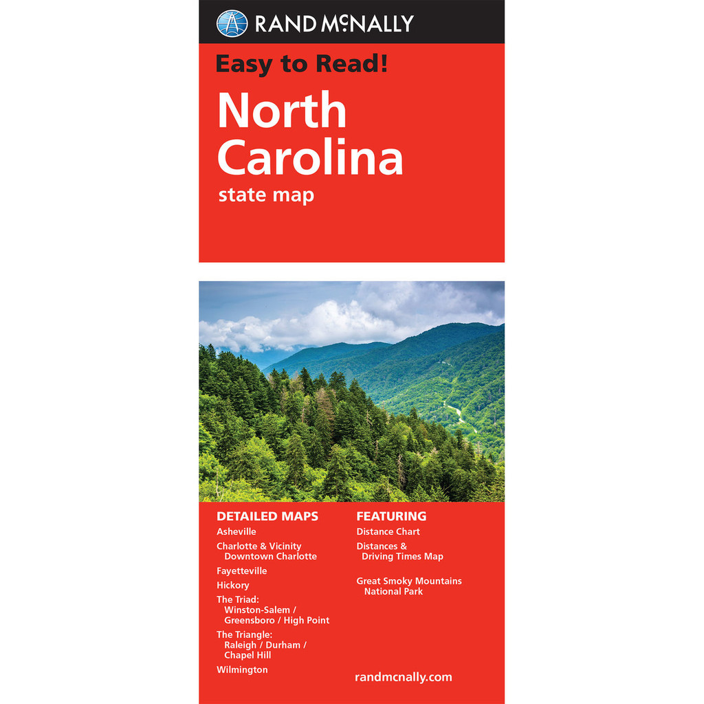 Rand Mcnally Folded Map North Carolina