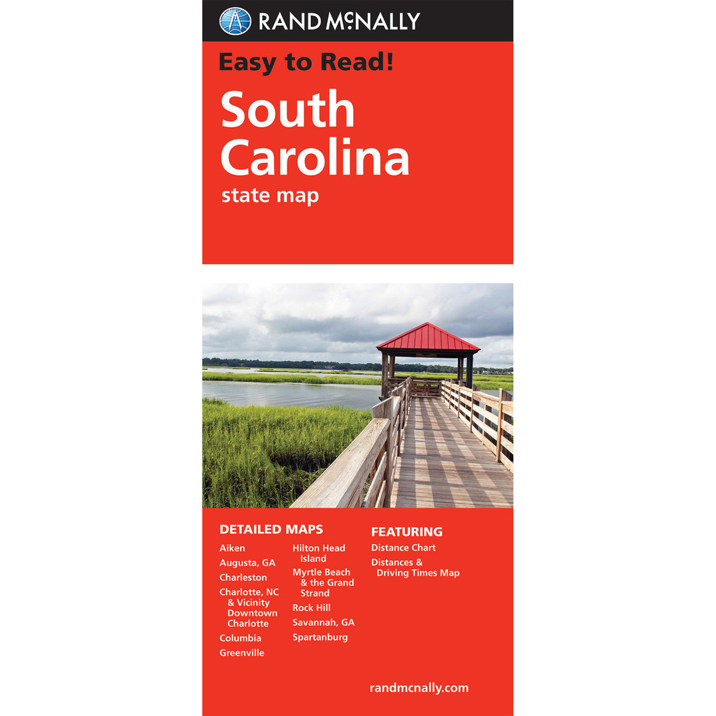 Rand Mcnally Folded Map South Carolina