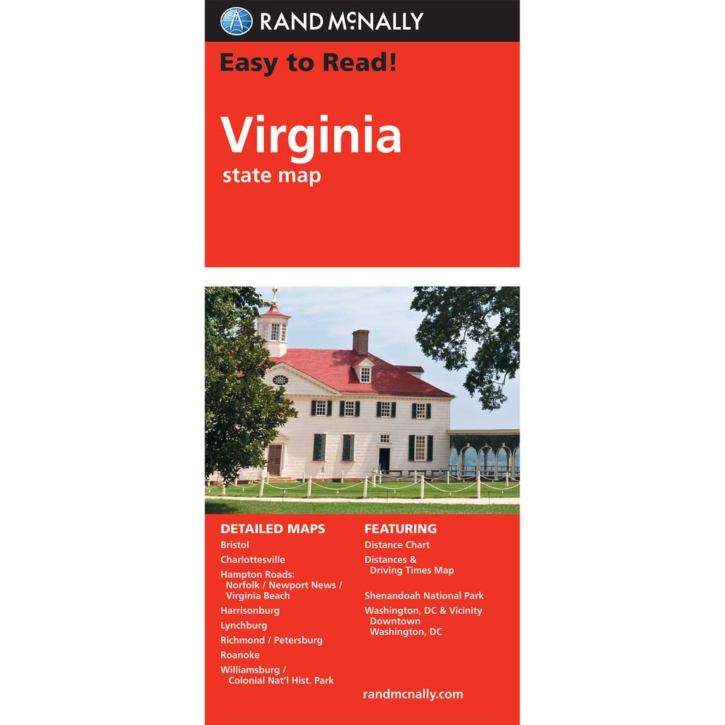 Rand McNally Folded Map: Virginia