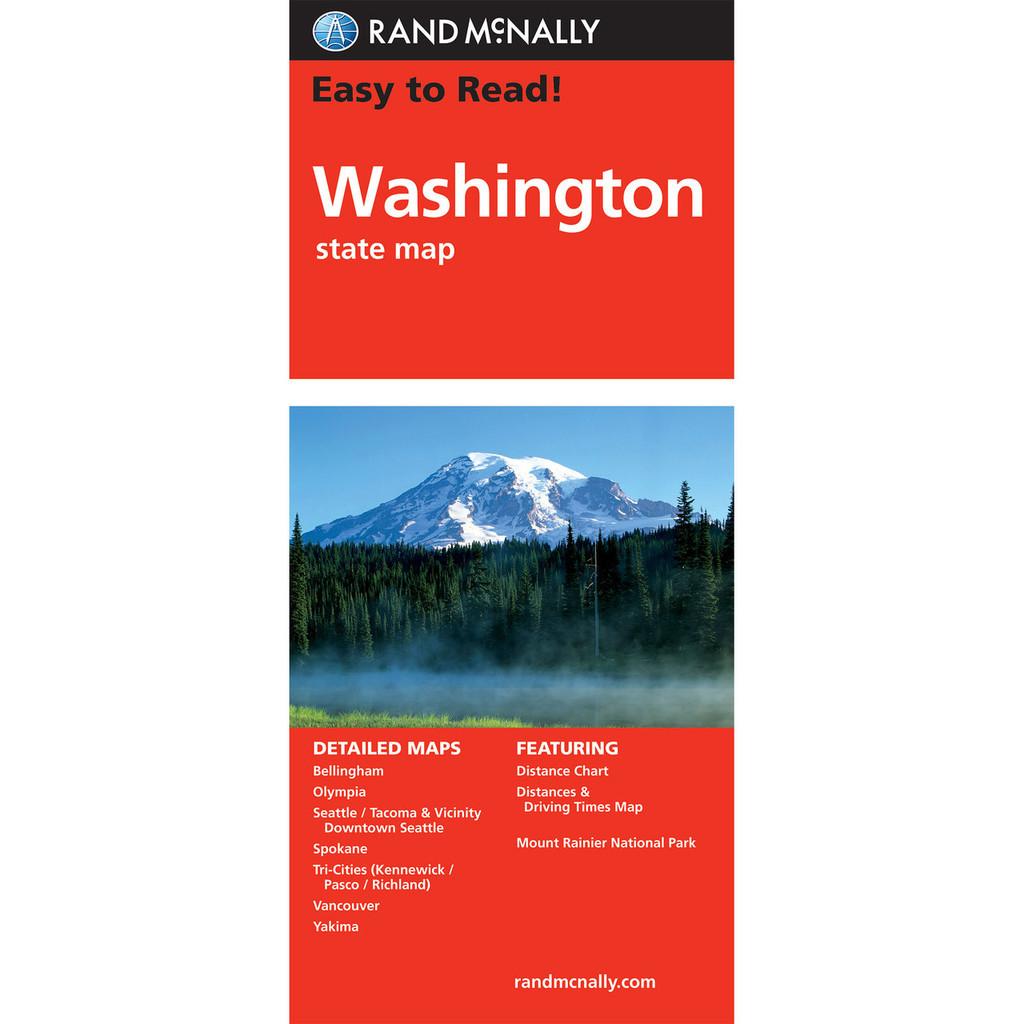 Rand McNally Easy To Read State Folded Map: Washington