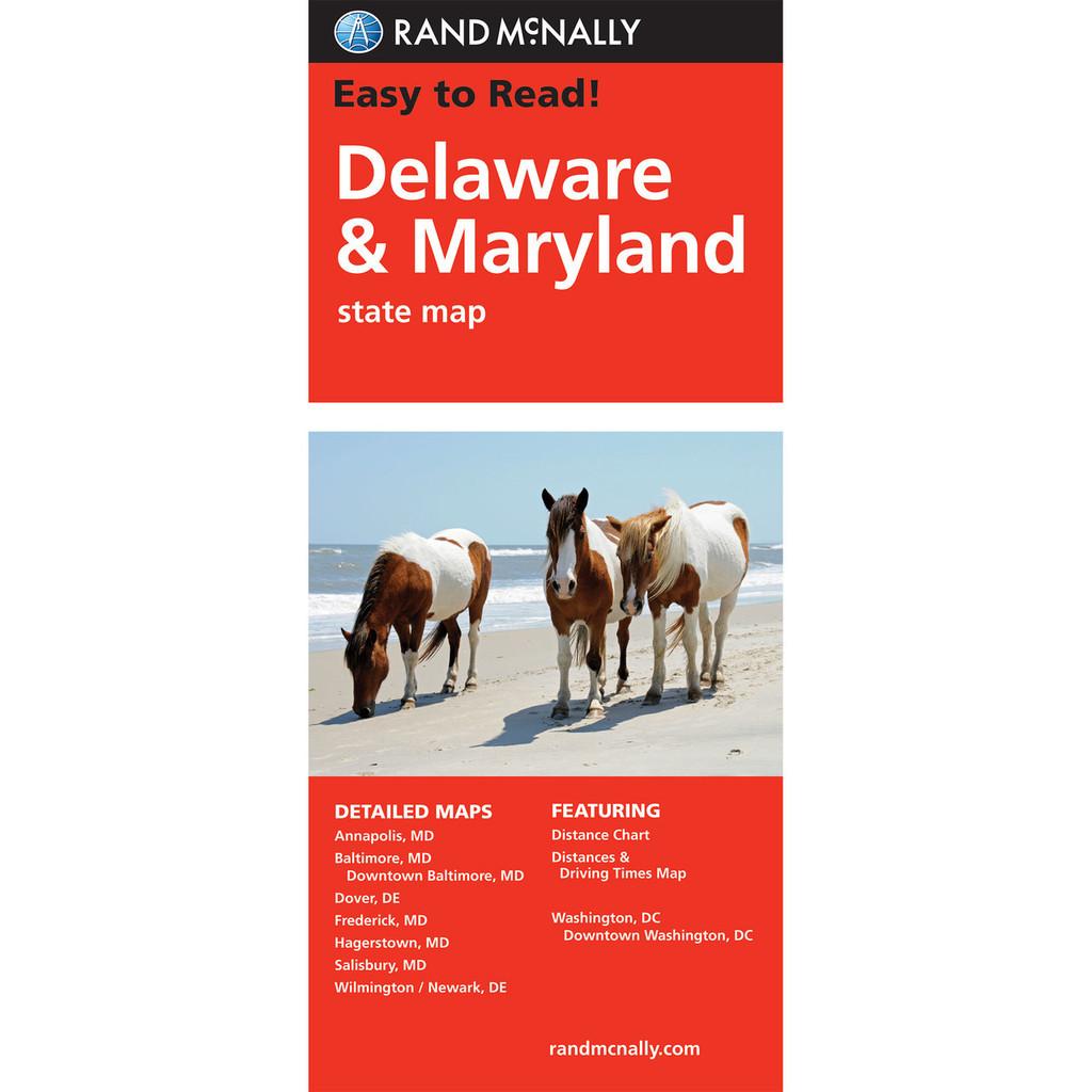 Rand Mcnally Folded Map Delaware Maryland
