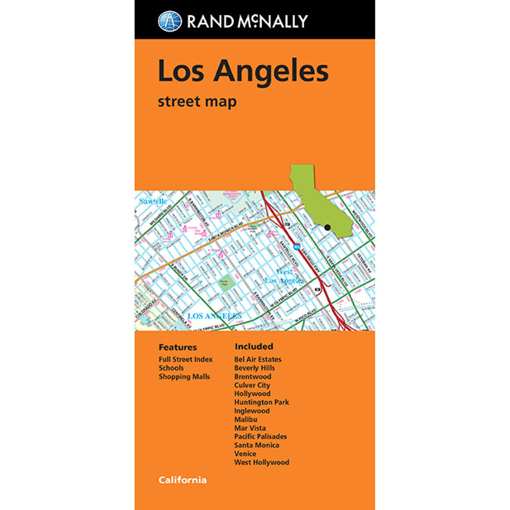 Folded Map: Los Angeles Street Map