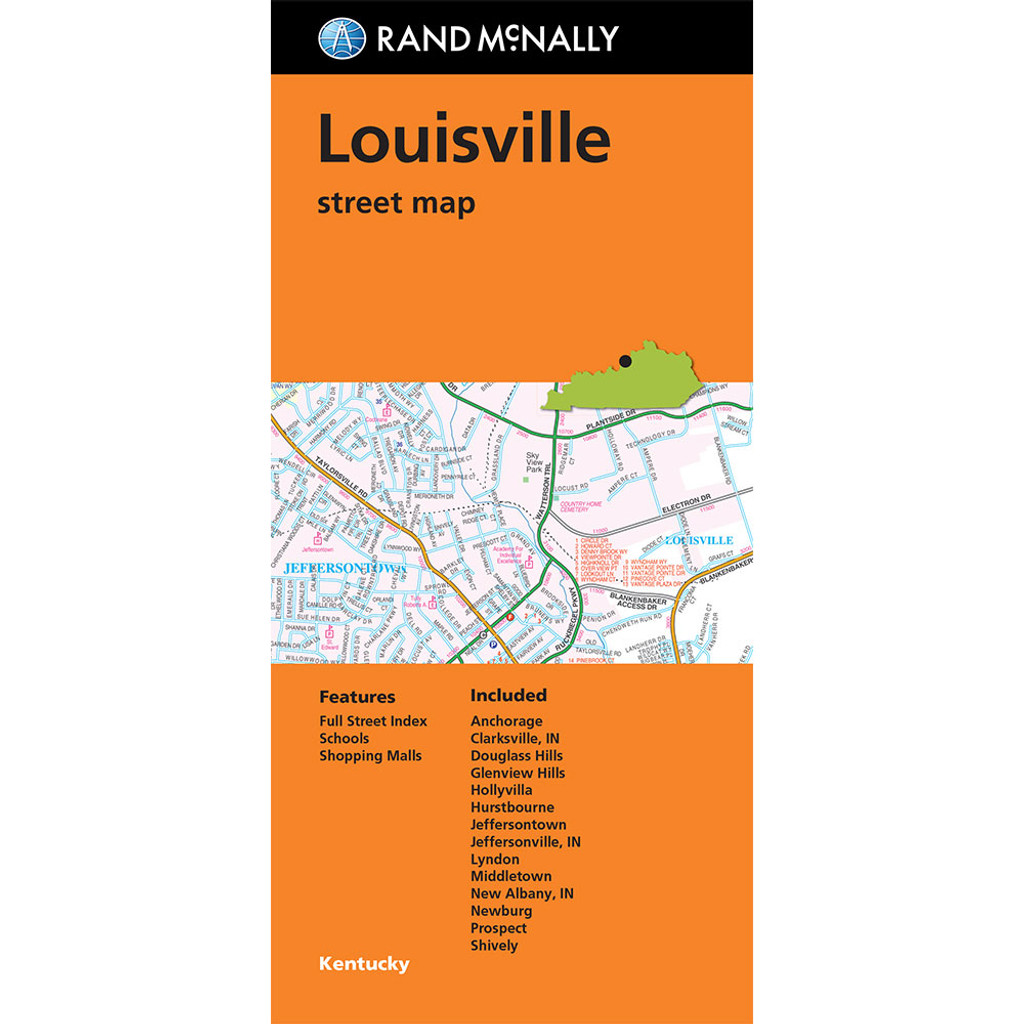 Folded Map: Louisville Street Map