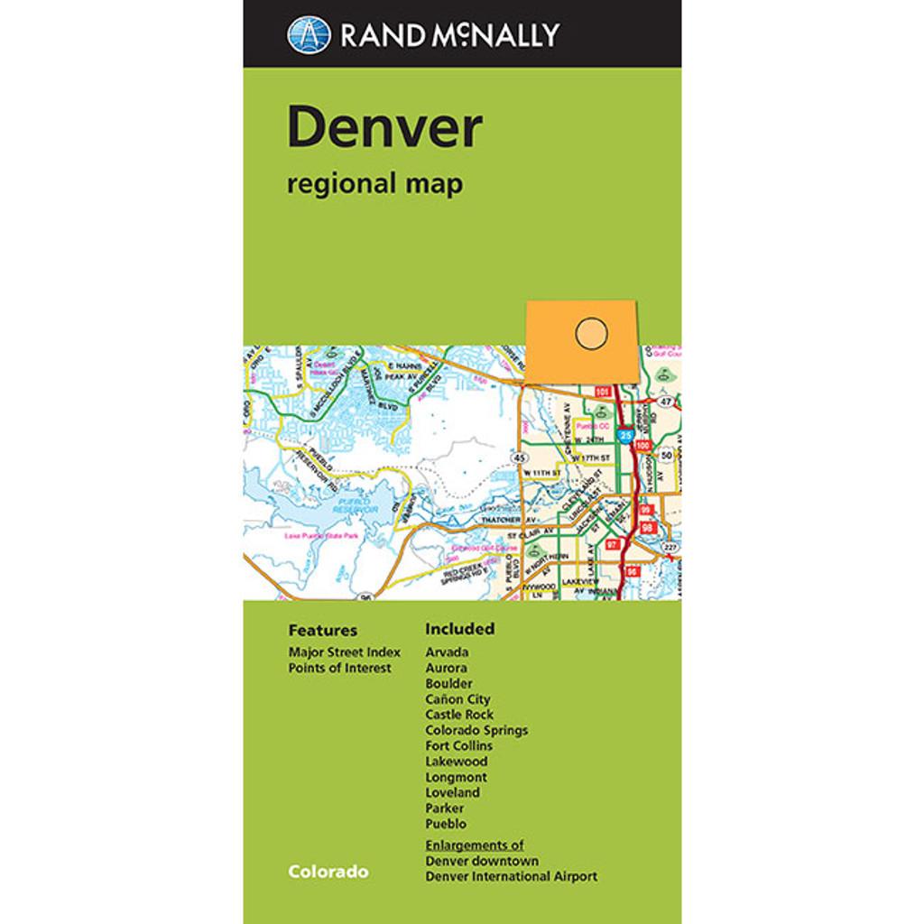 Folded Map: Denver Regional Map