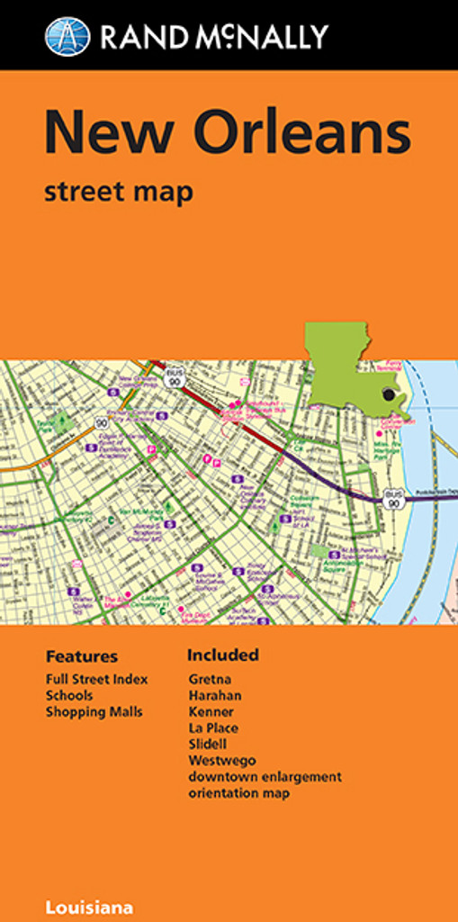 Louisiana New Orleans Map.Folded Map New Orleans Street Map