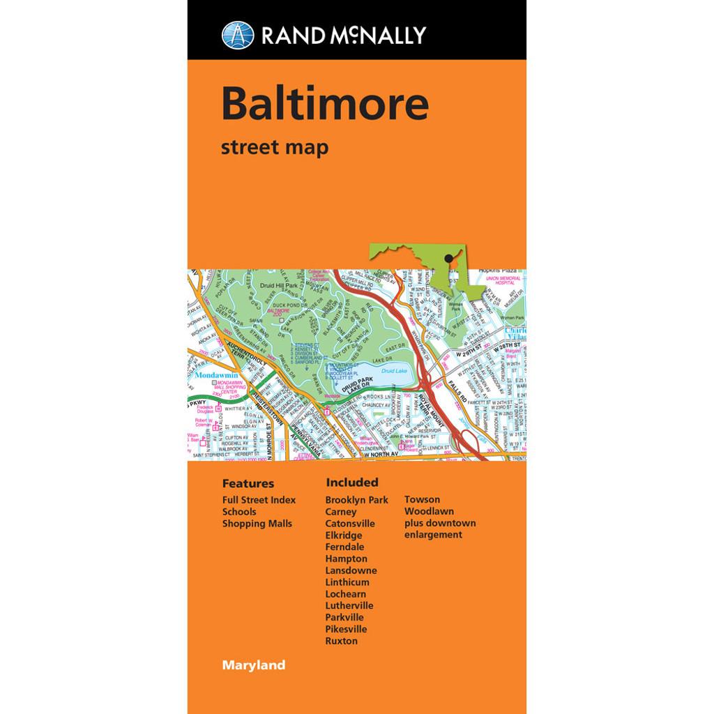 Folded Map: Baltimore Street Map
