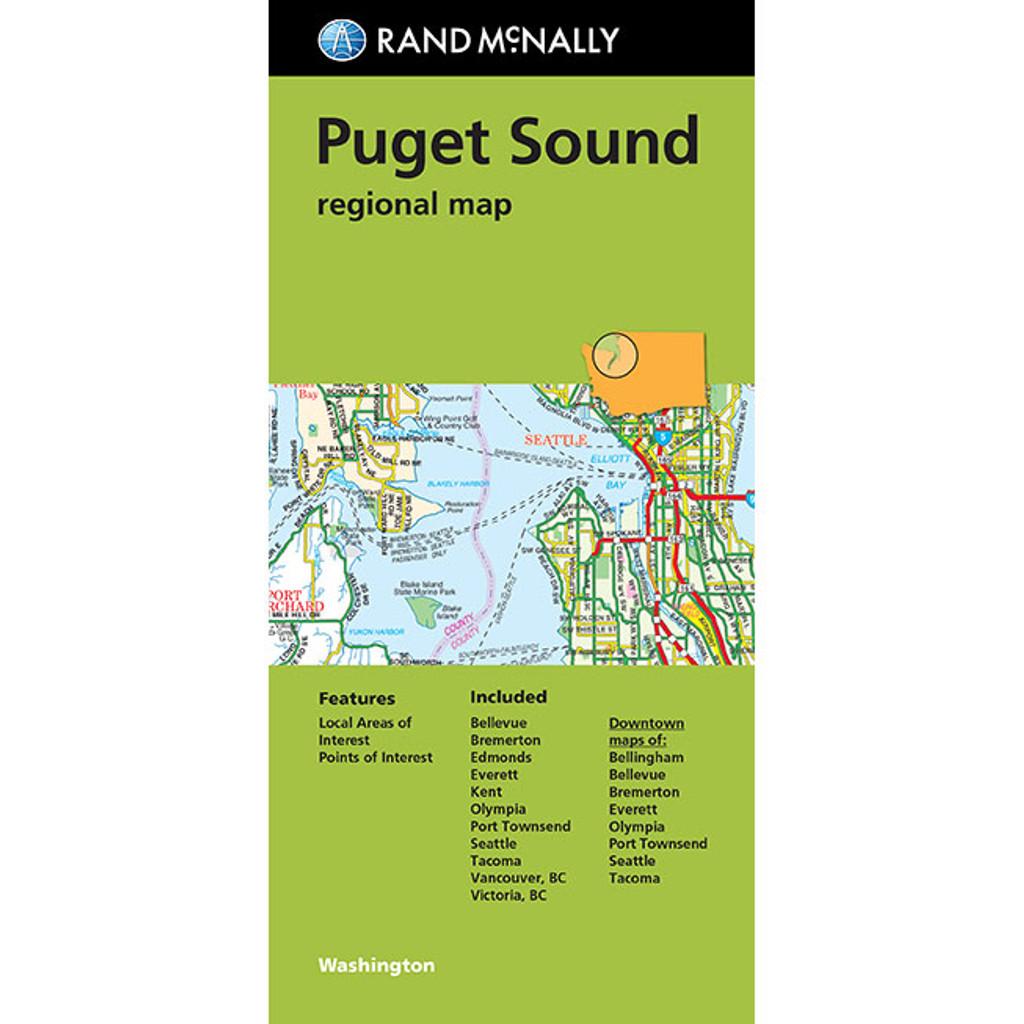 Folded Map: Puget Sound Regional Map