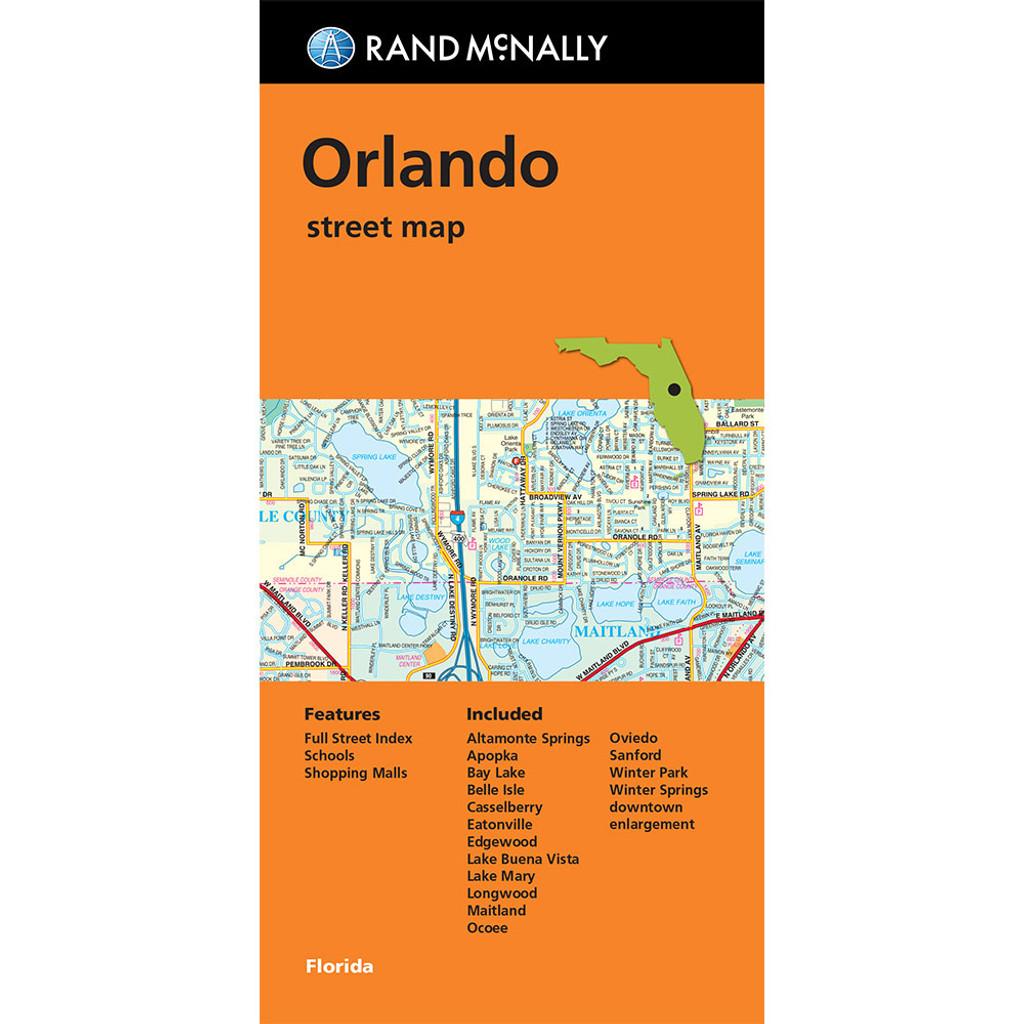 Lake Mary Florida Map.Folded Map Orlando Street Map