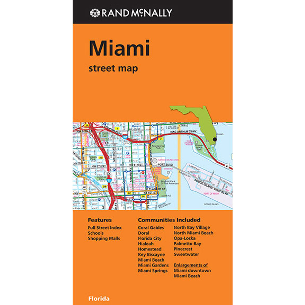 Folded Map Miami Street Map