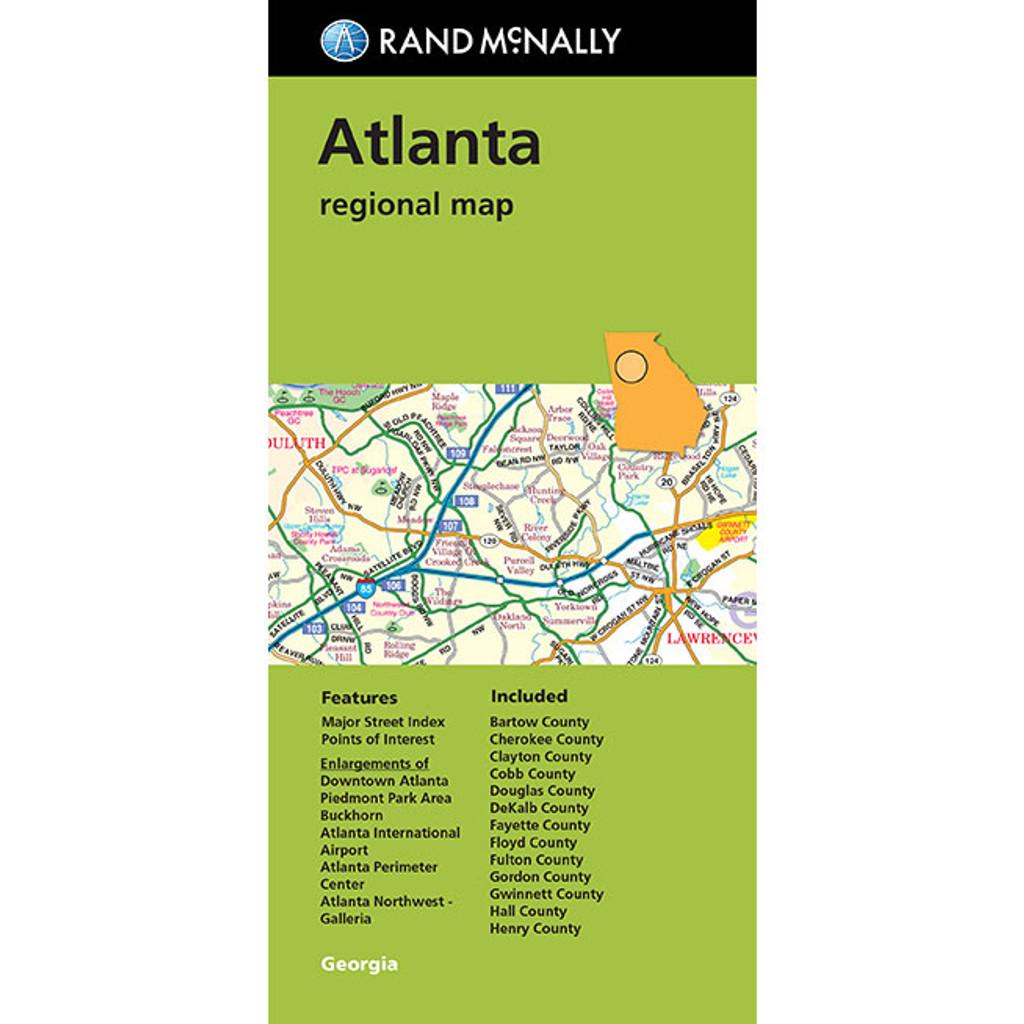 Folded Map: Atlanta Regional Map