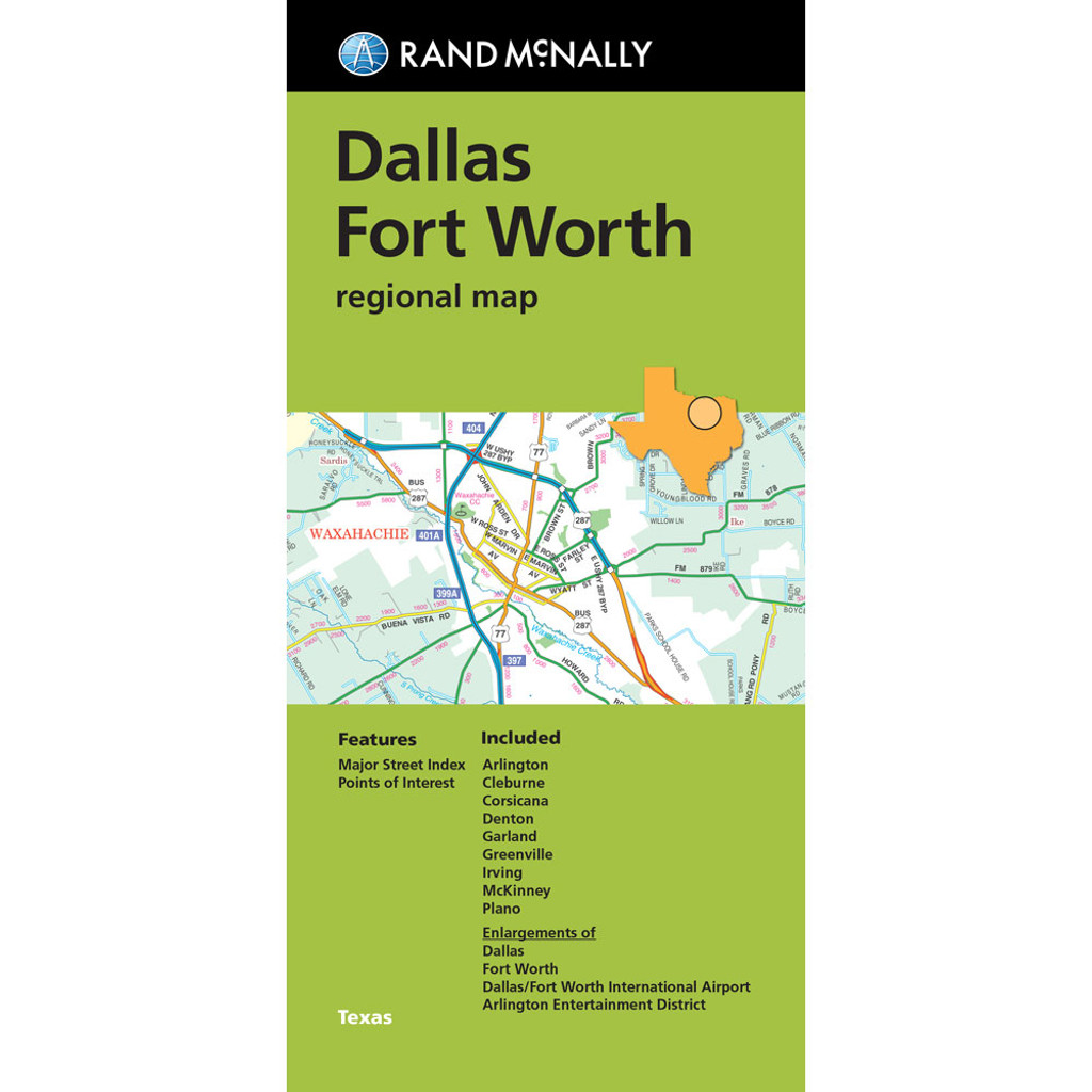 Folded Map: Dallas Fort Worth Regional Map