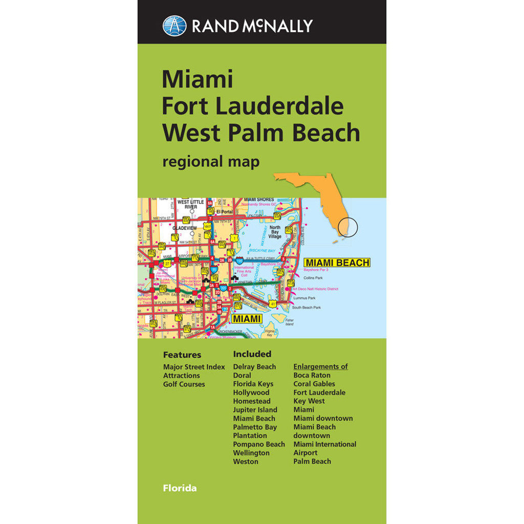 Pompano Beach Florida Map.Folded Maps Miami Fort Lauderdale And West Palm Beach Regional Map