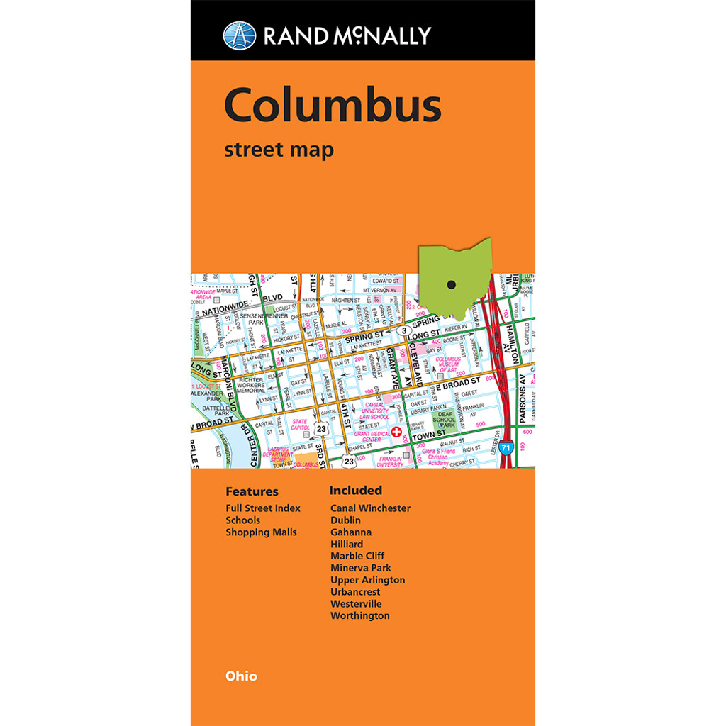 Folded Map: Columbus Street Map
