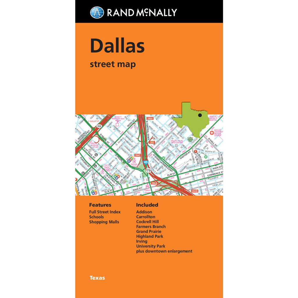 Folded Map: Dallas Street Map