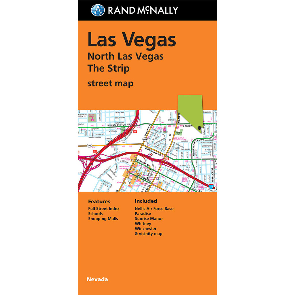 Us Map Las Vegas.Folded Map Las Vegas The Strip Street Map