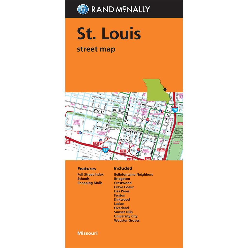 Folded Map: St. Louis Street Map