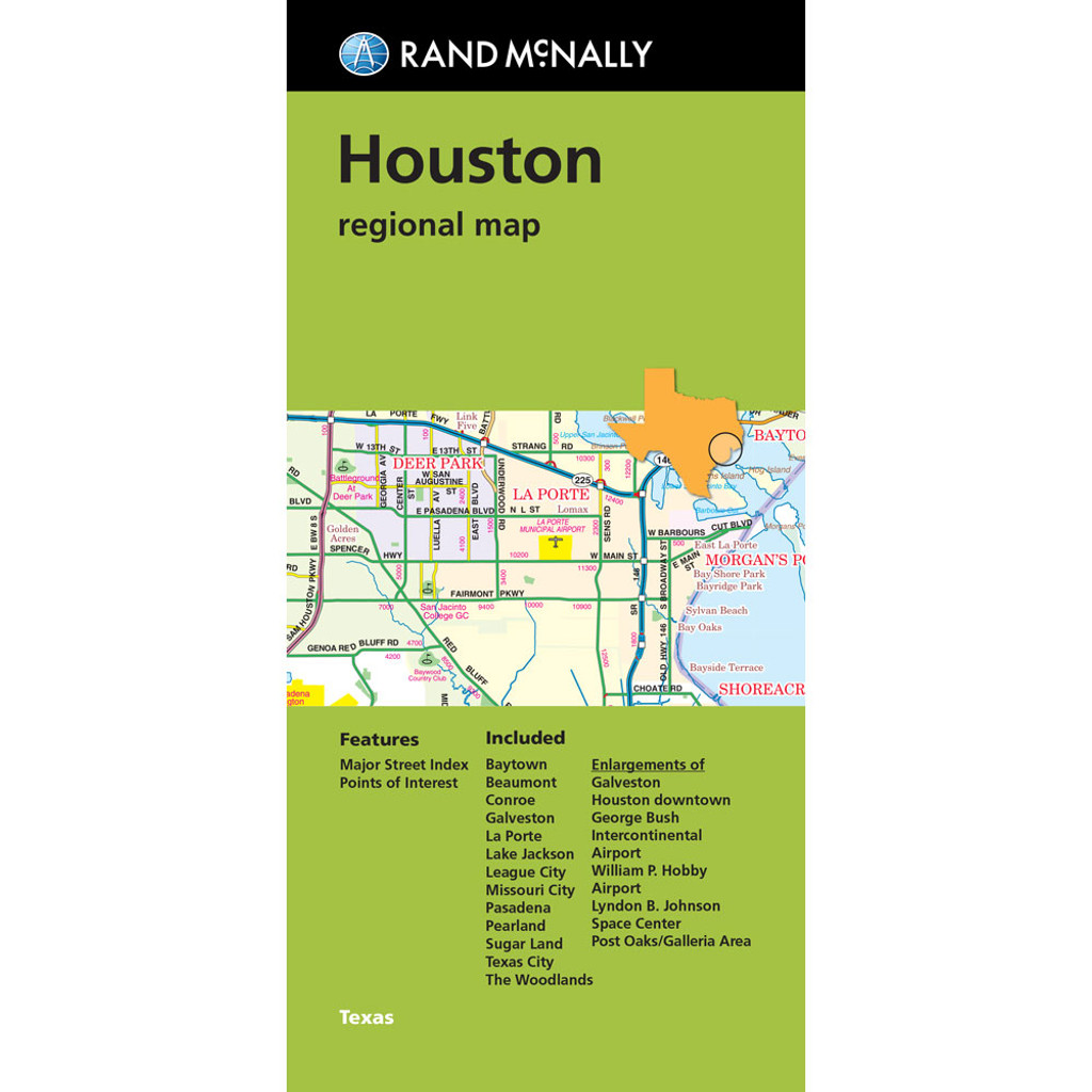 Folded Map Houston Regional Map Rand Mcnally Store